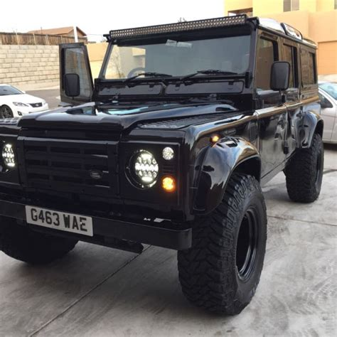 range rover defender 1990 land rover defender county station wagon 1990 black for