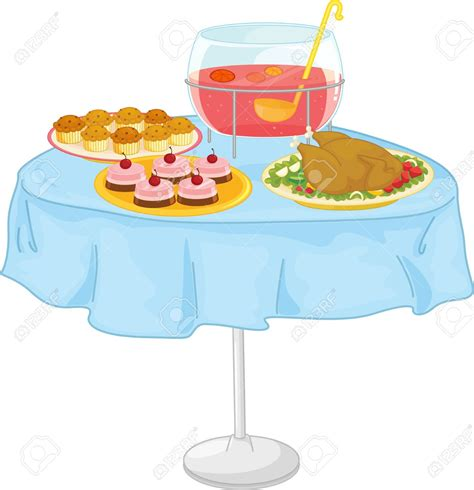 table of food table with food clipart clipground