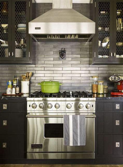 metallic kitchen backsplash metallic subway tile backsplash kitchen space pinterest