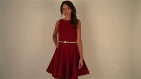 youtu vestidos moda online vestido falda de vuelo en rojo anna youtube