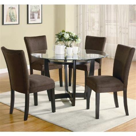 modern 48 inch glass top dining set by coaster by