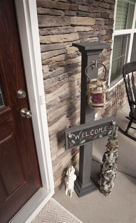 diy chalkboard  sign  sign post christmas wood