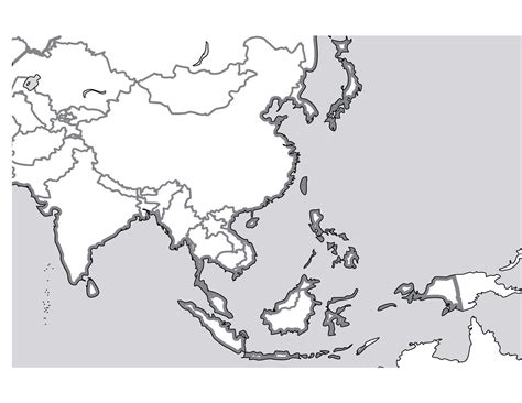 printable map southeast asia free map of south east asia coloring pages