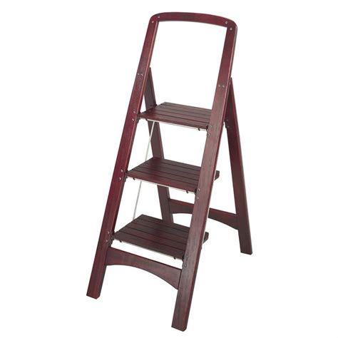 Wood 3 Step Folding Stool by Cosco 174 Wood 3 Step Folding Ladder 618762 Ladders