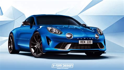 renault alpine renault alpine celebration concept rendered in production