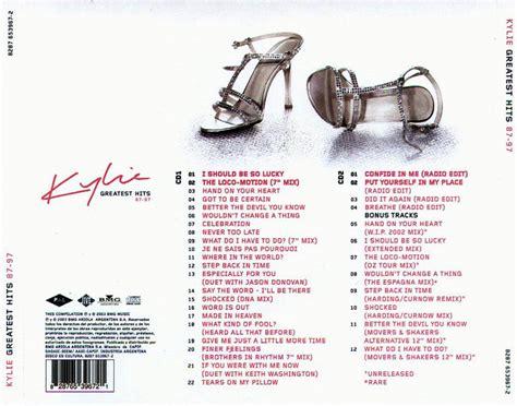 Kaset Minoque Album Gretaest Hit 87 97 car 225 tula trasera de minogue greatest hits 87 97 portada