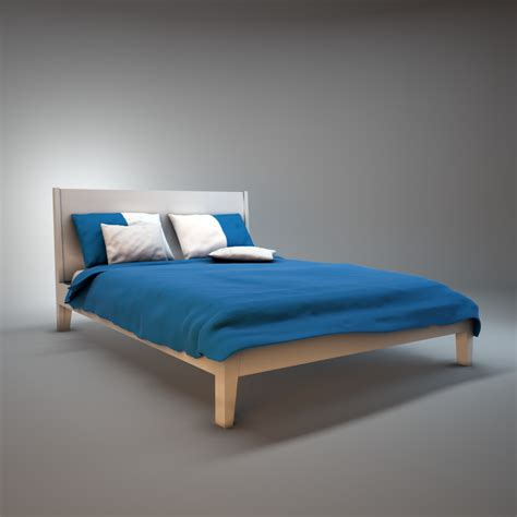 nordli bed ikea ikea nordli bed 3d model