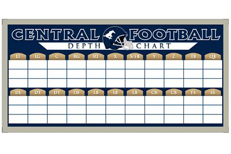 blank football depth chart template blank football depth chart template images