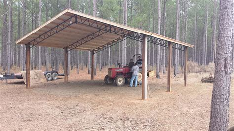 smith built shed open shelter and fully enclosed metal pole barns smith built