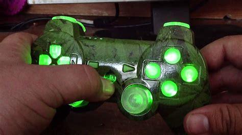 ps3 controller light codes weed ps3 controller marijuana design rapid fire led lights