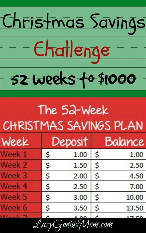 printable christmas savings plan 52 weeks to 1000 be prepared for christmas free