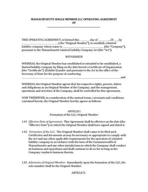Single Member Llc Operating Agreement Template Emsec Info Operating Agreement For Single Member Llc Template