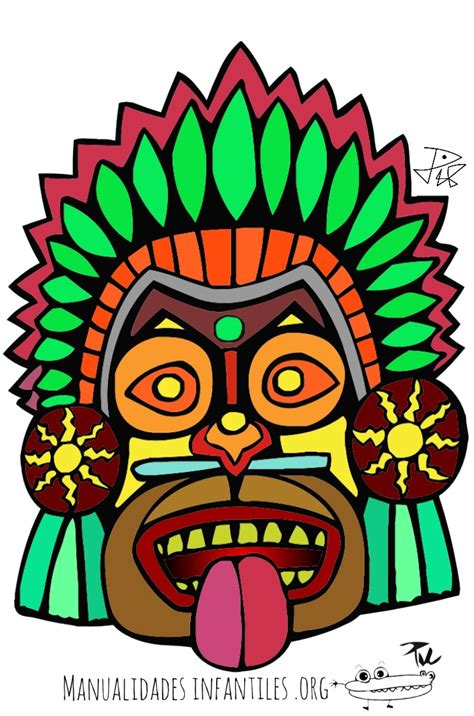 imagenes aztecas para imprimir mascaras mayas para colorear images