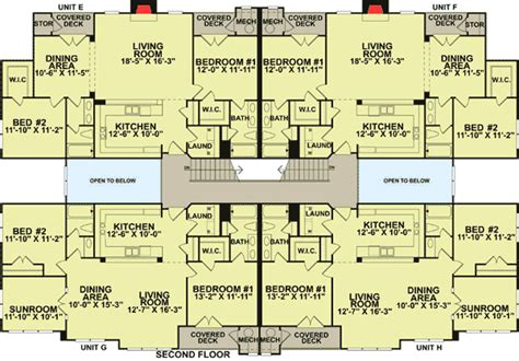 8 unit apartment floor plans creative 8 unit apartment building 83118dc architectural designs house plans