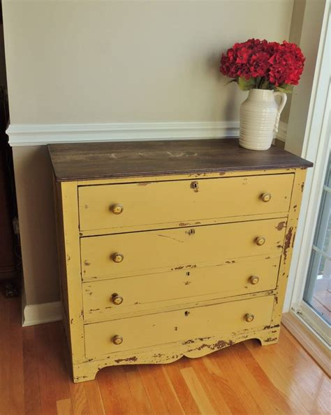 Painted Yellow Dresser by Best 25 Yellow Distressed Furniture Ideas On