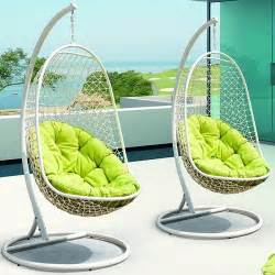 Swing Chair Outdoor Patio Rattan Outdoor Patio Swing Chair By Modern