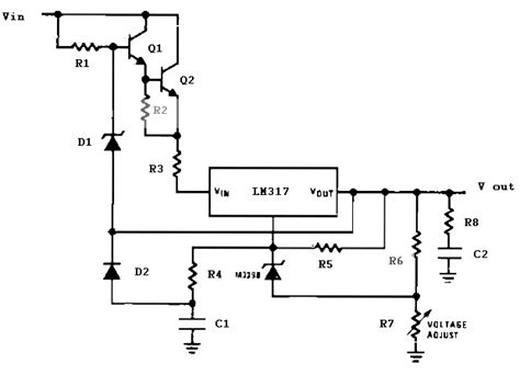 high voltage regulator circuit diagram circuit and