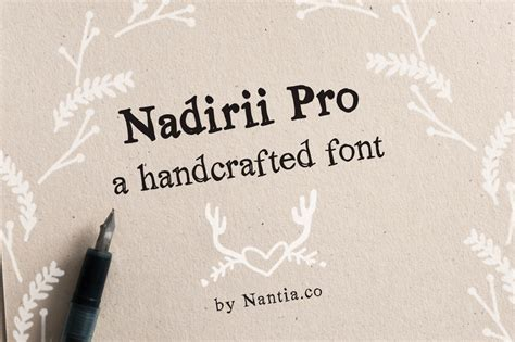 Handcrafted Font - nadirii pro font handcrafted