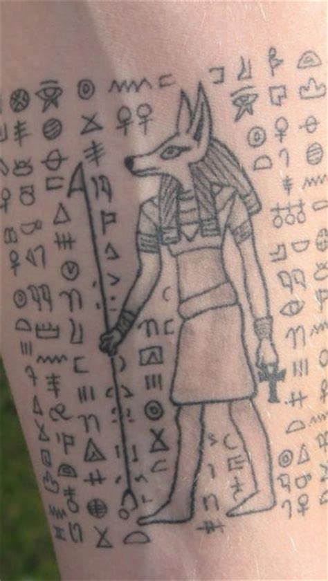 hieroglyphics tattoo hieroglyphics with anubis deity tattooimages biz