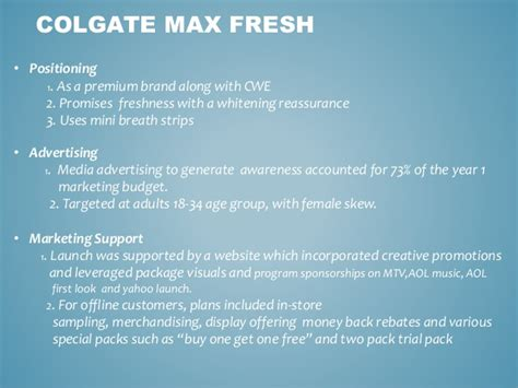Clip N Go The Key To Fresh Breath by Colgate Max Fresh Ppt