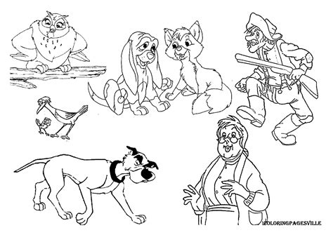 coloring pages for fox and the hound the fox and the hound coloring pages