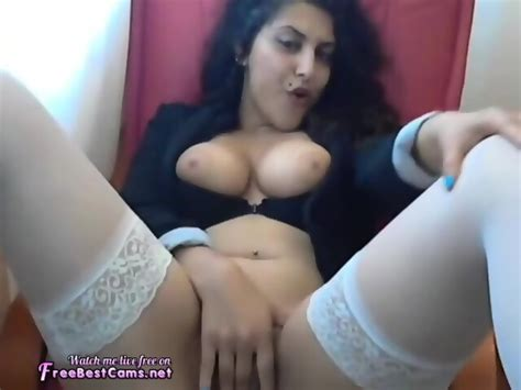 Real Sexy Arab Egypt Muslim Teen Masturbates In Stockings
