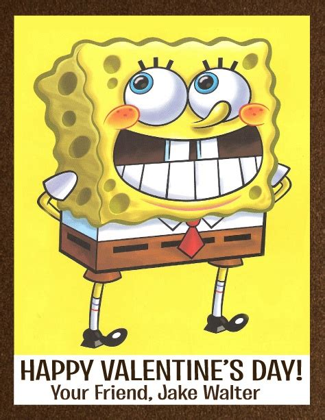 spongebob valentines 17 best images about be my on