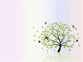 powerpoint tree template folio tree nature ppt backgrounds green nature