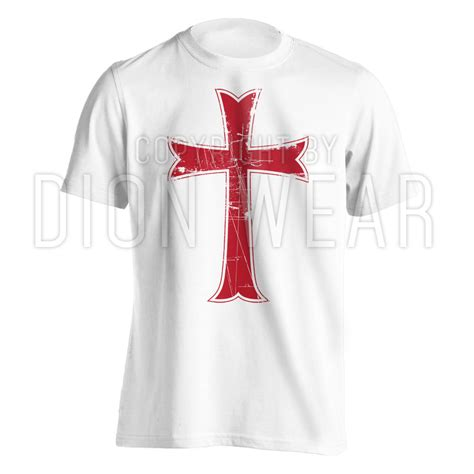 T Shirt Cross crusader knights templar distressed christian cross jesus t shirt s 3xl ebay