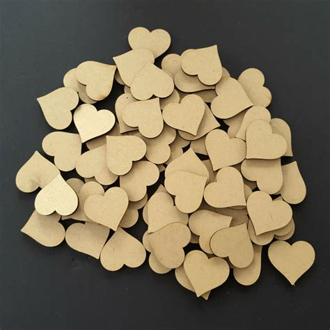 wooden love hearts shape embellishments craft blank