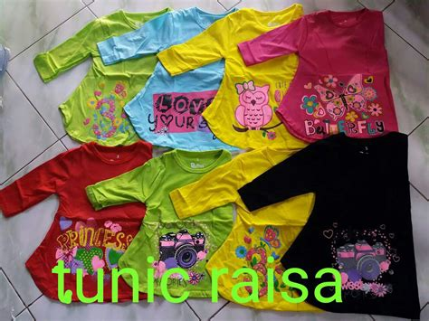 Grosir Rayna Tunic Murah pusat grosir baju tunic raisa anak perempuan murah surabaya rp 17 500
