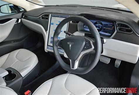 Tesla Grey Interior Tesla Model S P85 Review Performancedrive