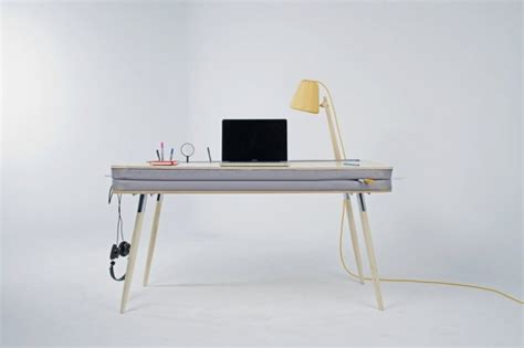 Modern Work Desks Modern And Unique Desk With Fabric Pocket Oxymoron Desk Home Building Furniture And