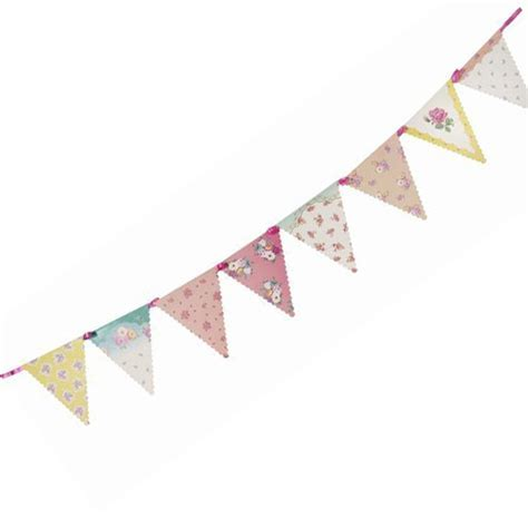 Truly Scrumptious Vintage Tea Party Paper Bunting   Talking Tables from All You Need To Party UK