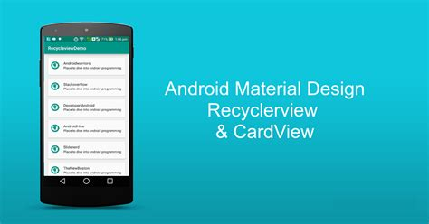 android material design layout exles android recyclerview exle tutorial recyclerview and