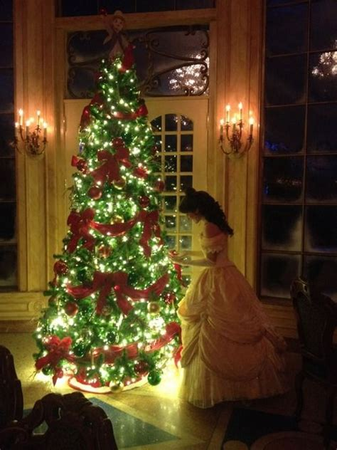 disney princess with christmas tree christmas cheer