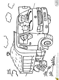 Coloriage engins de chantier sur Hugolescargot.com