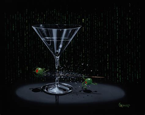 martini olive art 187 matrix martini by michael godard limited edition
