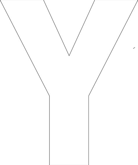 letter y template free printable alphabet template
