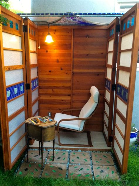 man builds diy micro writing shed  wife