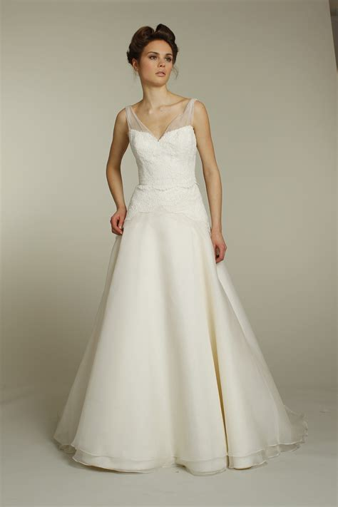 classic ivory a line wedding dress with applique and