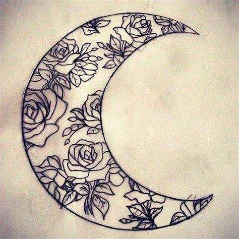 rose moon tattoo