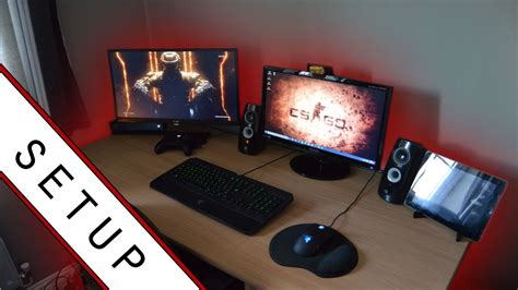 gaming setup room tour 2015 small room setup youtube