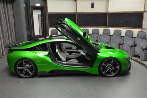 green bmw lava green bmw i8 is serious eye