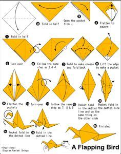 Origami Bird With Flapping Wings - origami animals bird on origami birds origami
