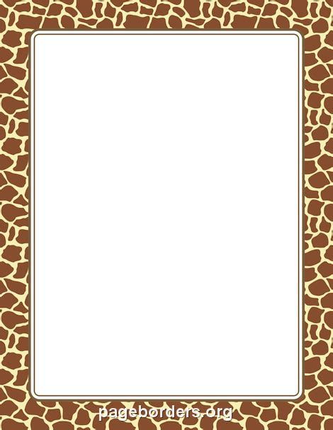 Printer Bordir printable giraffe print border use the border in