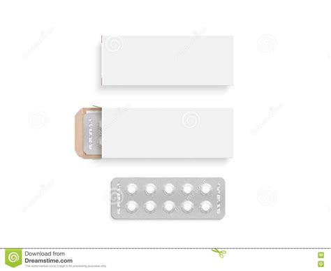 medicine box template blank white pill box design mockup set isolated 3d