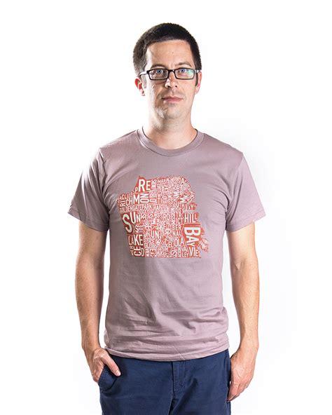 san francisco map t shirt san francisco neighborhoods map two tone unisex t shirt