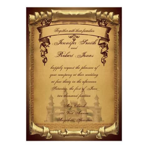 time on wedding invitation once upon a time wedding invitation 5 quot x 7 quot invitation
