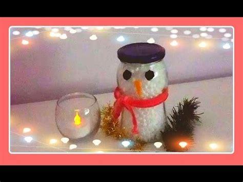 manualidades de navidad con fradcos de gerber mu 241 ecos de nieve con frascos de vidrio navidad youtube